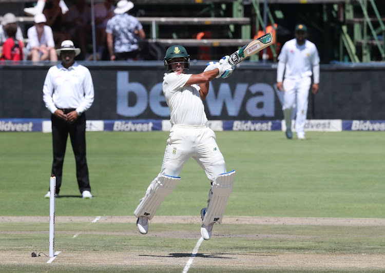Zubayr Hamza of the Proteas bats during Day 1 of the Castle Lager Test Series match between South Africa and Pakistan at the Wanderers, Johannesburg on January 11 2019.