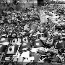"Photo: Toxic Trash.  Digital Debris.  Junk computer monitors from wealthy nations, found dumped on the ground in poor countries.  Greenpeace, BAN, SVTC and other groups were outraged, and called for a ban on exports.  Major newspapers spread the statistic that ""80%"" of USA electronics exports are 'pure junk'"