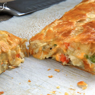 Turkey Pot Pie Stromboli