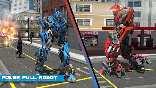 Futuristic Robot Dolphin City Battle - Robot Game apkpoly screenshots 9