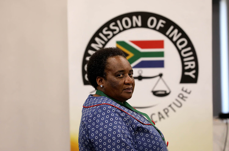 Former labour minister Mildred Oliphant appeared at the commission of inquiry into state capture in Parktown, Johannesburg, on Tuesday.