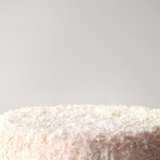 COCONUT CAKE WITH LEMON CURD FROSTING