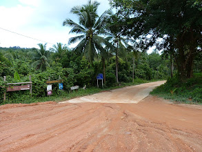 Photo: Ko Phangan motobiking around - promising looking concrete road to Sadet beach from junction