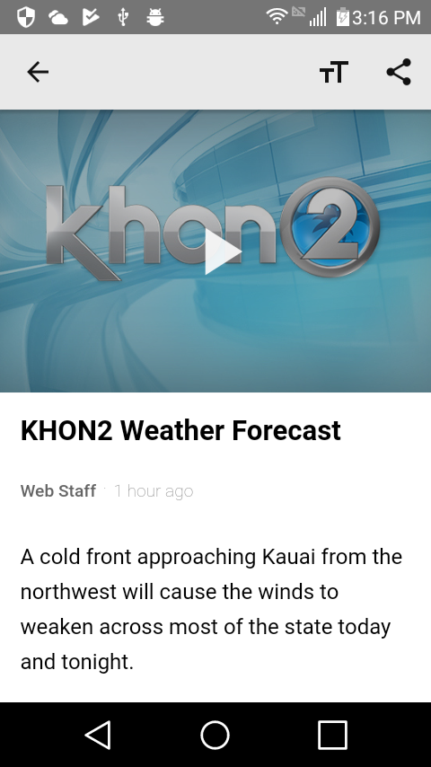 KHON2 WX - Radar & Forecasts- screenshot