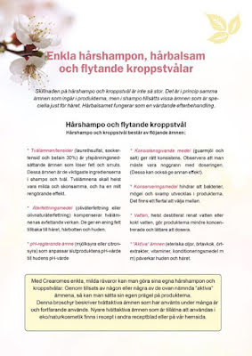 Receptbroschyr Schampo