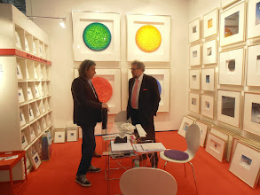 Photo: Art in Boxes by Volker Kuhn, Berlin  www.artinboxes.de, www.galeriekuehn.com #ambiente14 (Volker Kuhn is at right)