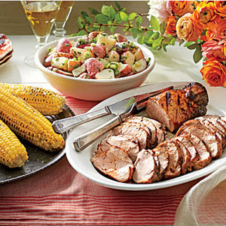 Grilled Pork Tenderloins with Corn on the Cob Recipe