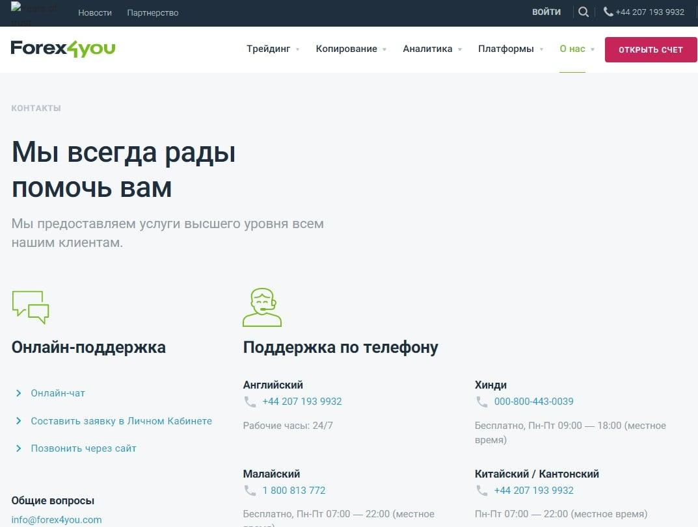 Отзывы о Forex4you и подробный обзор деятельности брокера обзор