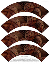 Photo: steampunk cupcake wrappers paul stickland