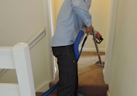 A Carpet being cleaned with the airflex storm