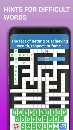 Crossword Puzzle Free Classic Word Game Offline screenshots 3