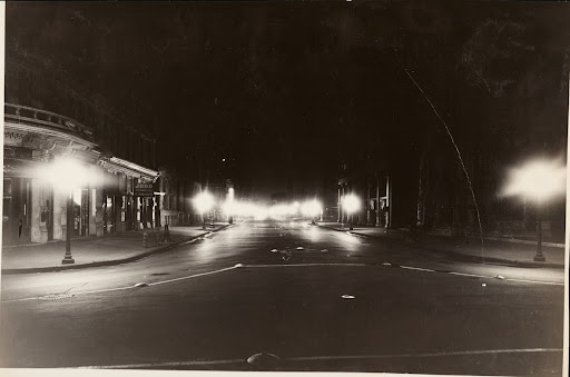 Indianapolis, Ind., North Meridian Street, illuminated by alabaster ball globe 150W. lamps multiple.