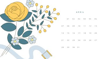 Bouquet Monthly - Monthly Calendar template