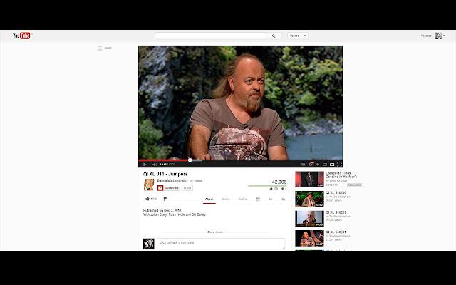 Center new YouTube layout