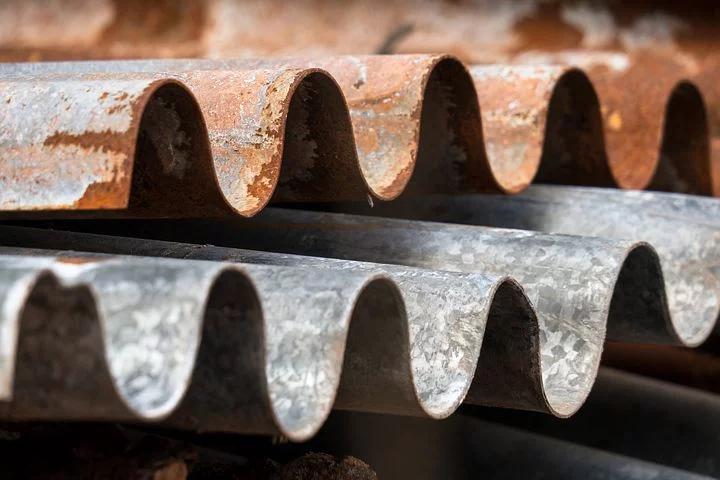 Clean Corrugated Metal