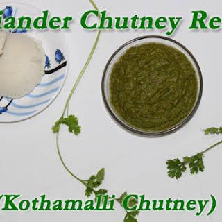 Coriander Chutney Recipe (Kothamalli Chutney).