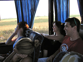 Photo: long bus journey from Belgrade to Prishtina