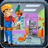كهربائي إصلاح المكاتب: لعبة مصل APK