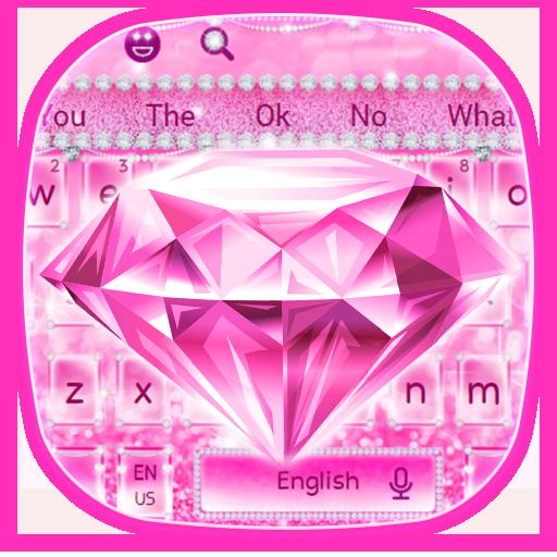 Pink Glitter Diamond Keyboard