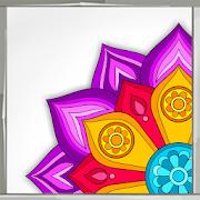 Flower Mandala Coloring Book