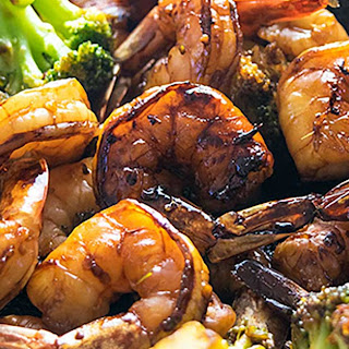 Honey Garlic Shrimp and Broccoli.