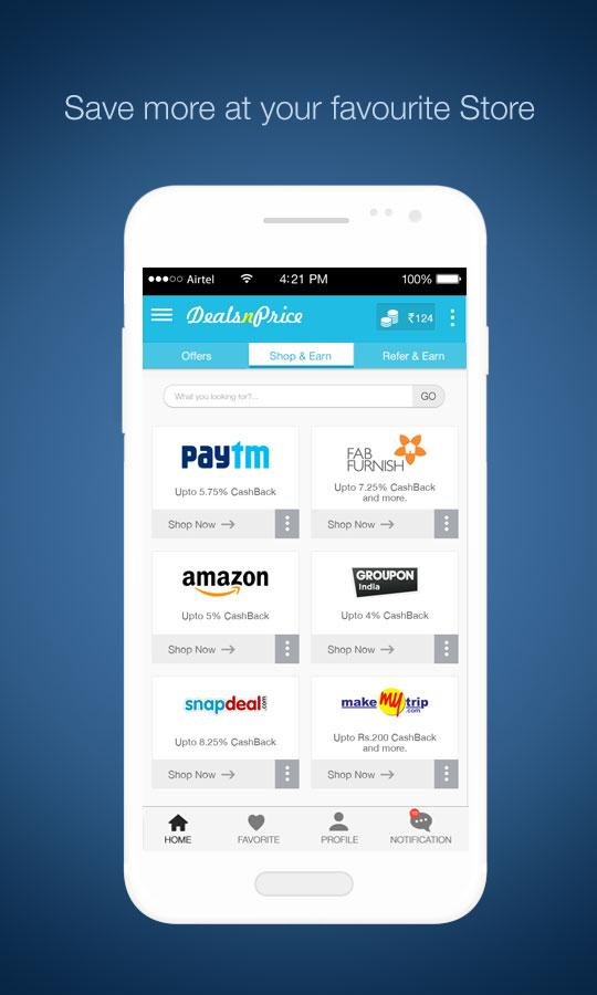 Deals N Price-Earn Cashback- screenshot