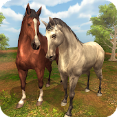 Virtual Wild Horse Family Sim : Animal Horse Games