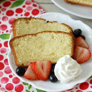 Vanilla Pound Cake with Fresh Berries
