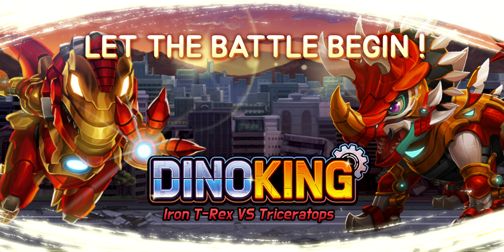 Dino King Iron T-Rex VS Triceratops