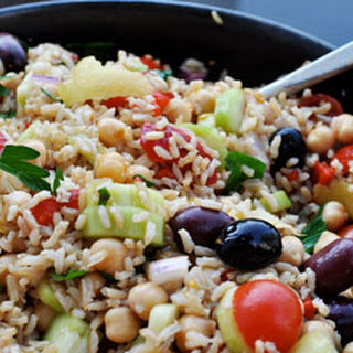 Gluten-Free Middle Eastern Chickpea Salad.
