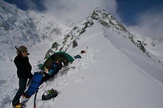 Photo: First camp on East Ridge. 2600 m.
