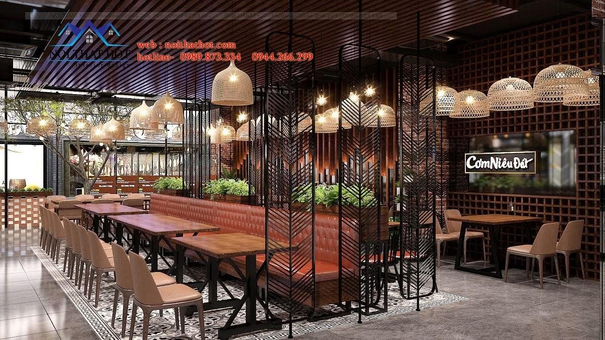 thiết kế nhà hàng tại TTTM