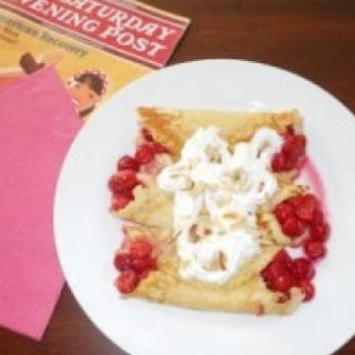 Blueberry Or Cherry Crepes.