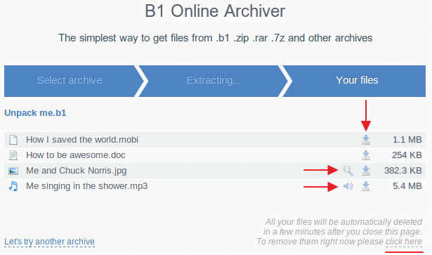 Blog b1 » How to Use B1 Online Archiver