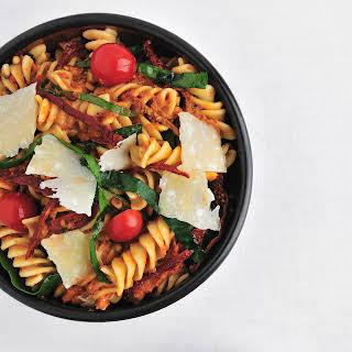 Fusilli with Spinach and Sun-Dried-Tomato Pesto.