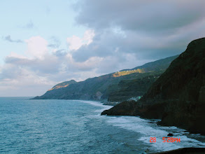 Photo: View from road looking back along coastline towards Vila das Pombas