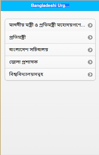 Urgent Telephone Numbers of BD
