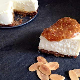 Goat Cheese Cheesecake with Fig Jam