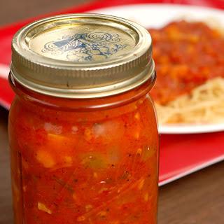 Chunky Garden Vegetable Spaghetti Sauce.