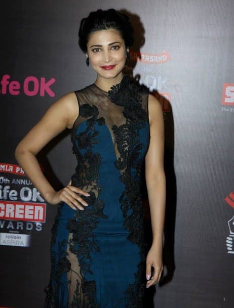 Shruti Hassan at Life OK Screen Awards 2013
