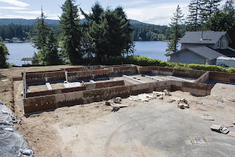 Photo: Mud tomorrow at 11.  We'll straighten and brace the long walls straight and then 32 yds of concrete.