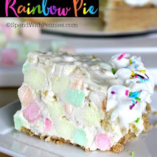 No Bake Rainbow Pie.