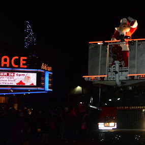 Santa opens the Christmas season in style! by Thomas Fitzrandolph - Public Holidays Christmas ( autumn, celebrations, santa claus, niagara county ny, christmas, firetruck, nikon d5200, parades, lockport ny,  )