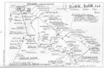 Photo: Historicke cesty na konci 19.stol. podle pana Vinse z V.Popovic