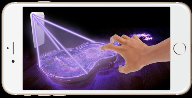 android Guitar Hologram Simulator Screenshot 2