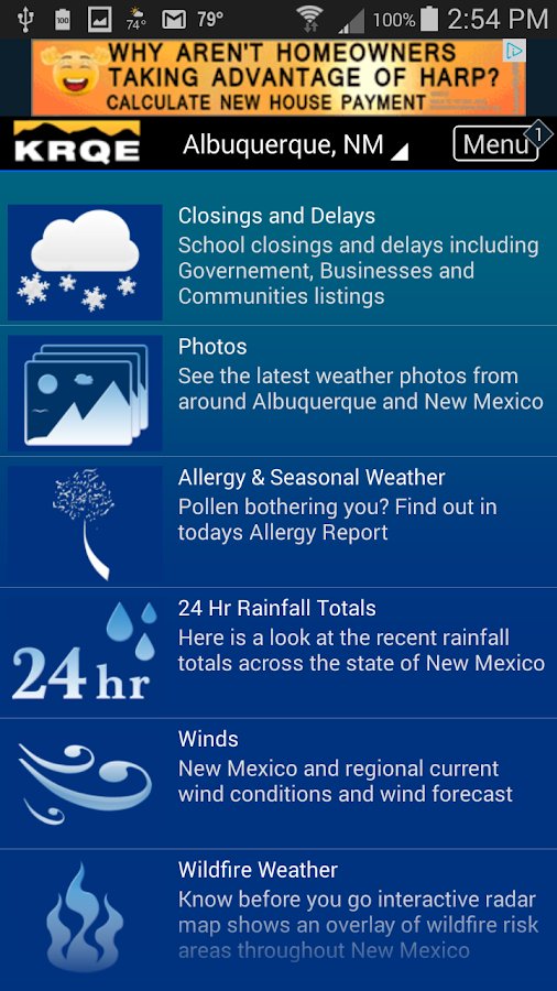 KRQE Weather- screenshot