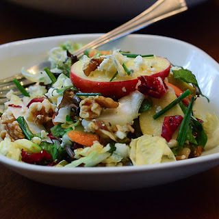 Apple Cabbage Salad with Walnuts and Gorgonzola