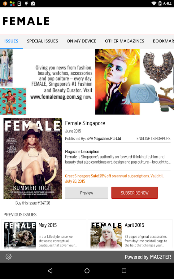 Female Singapore- screenshot