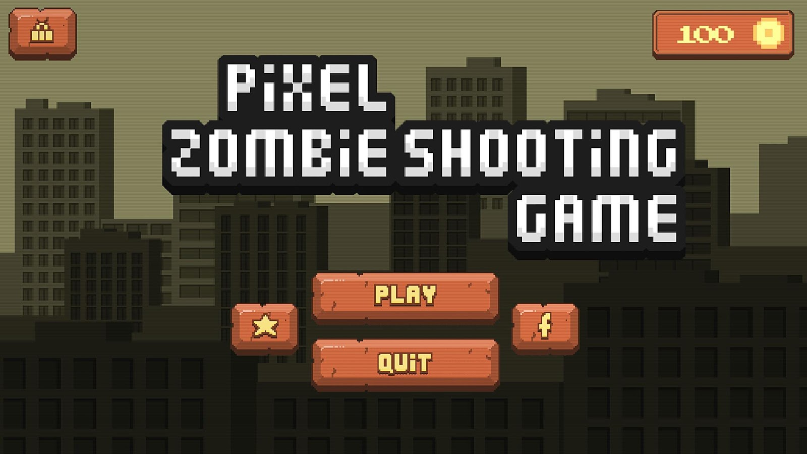 Pixel Zombie Shooting Game- screenshot