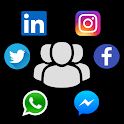 Contacts GenX - Social Profiles, Groups, Dialpad icon
